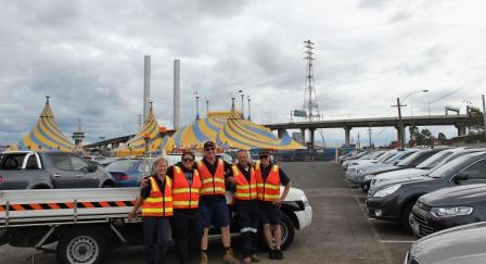 cirque car park team
