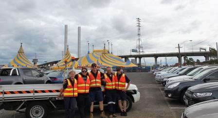 cirque car park team